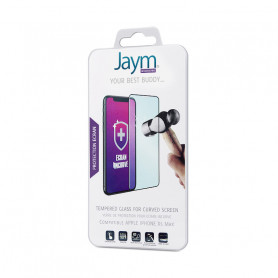 FILM ECRAN VERRE TREMPE 3D INCURVE JAYM COMPATIBLE APPLE IPHONE XS MAX / IPHONE 11 PRO MAX