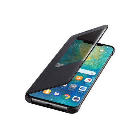 ETUI SMART VIEW FLIP COVER NOIR POUR MATE 20 PRO - ORIGINE HUAWEI
