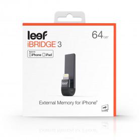 MEMOIRE EXTERNE POUR IPHONE ET IPAD - NOIR 64GO LEEF iBRIDGE 3