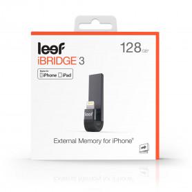 MEMOIRE EXTERNE POUR IPHONE ET IPAD - NOIR 128GO LEEF iBRIDGE 3