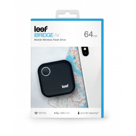 MEMOIRE HUB SANS FIL - NOIR 64GO LEEF iBRIDGE AIR