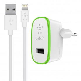 PACK CHARGEUR SECTEUR 12W BOOST-UP™ AVEC CABLE USB VERS LIGHTNING BLANCS - BELKIN**