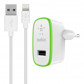 PACK CHARGEUR SECTEUR RAPIDE BOOST-UP™ 12W AVEC CABLE LIGHTNING BLANCS - BELKIN