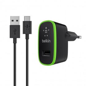 PACK CHARGEUR SECTEUR UNIVERSEL 10W AVEC CABLE USB VERS TYPE-C NOIRS - BELKIN
