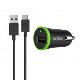 PACK CHARGEUR VOITURE 10W AVEC CABLE USB VERS TYPE-C NOIRS - BELKIN