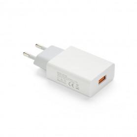 CHARGEUR SECTEUR 1 USB 2A BLANC BULK