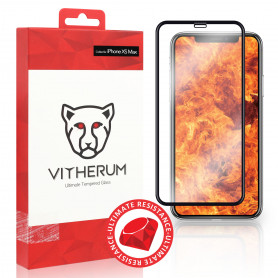 VERRE TREMPE 3D FULL GLUE RESISTANCE ULTIME + APPLICATEUR POUR APPLE IPHONE XS MAX - VITHERUM