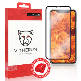 VERRE TREMPE 3D FULL GLUE RESISTANCE ULTIME + APPLICATEUR POUR APPLE IPHONE XR / IPHONE 11 - VITHERUM