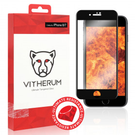 VERRE TREMPE 3D FULL GLUE RESISTANCE ULTIME + APPLICATEUR POUR APPLE IPHONE 7 / 8 - VITHERUM