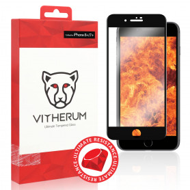 VERRE TREMPE 3D FULL GLUE RESISTANCE ULTIME + APPLICATEUR POUR APPLE IPHONE 7 PLUS / 8 PLUS - VITHERUM