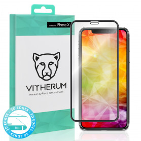 VERRE TREMPE 3D FULL GLUE + APPLICATEUR POUR APPLE IPHONE X / XS - VITHERUM