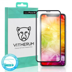 VERRE TREMPE 3D FULL GLUE + APPLICATEUR POUR APPLE IPHONE XR - VITHERUM