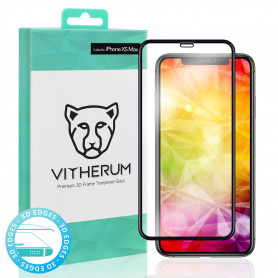 VERRE TREMPE 3D FULL GLUE + APPLICATEUR POUR APPLE IPHONE XS MAX - VITHERUM