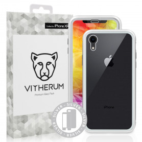 COQUE RENFORCEE MAGNETIQUE ARGENT + VERRE TREMPE 3D FULL GLUE POUR APPLE IPHONE XR - VITHERUM