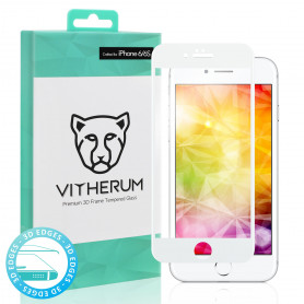 VERRE TREMPE 3D FULL GLUE + APPLICATEUR POUR APPLE IPHONE 6 / 6S - VITHERUM