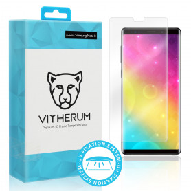 VERRE TREMPE 3D FIXATION ULTRA VIOLET POUR SAMSUNG GALAXY NOTE 8 - VITHERUM