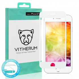 VERRE TREMPE 3D FULL GLUE + APPLICATEUR POUR APPLE IPHONE 7 / 8 - VITHERUM