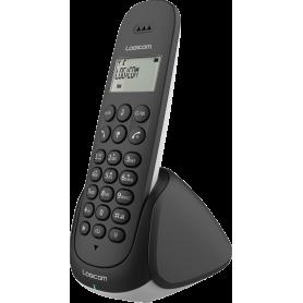 TELEPHONE DECT AURA155T 1 POSTE AVEC REPONDEUR NOIR - LOGICOM