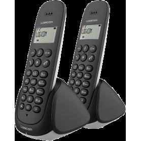 TELEPHONE DECT AURA255T 2 POSTES AVEC REPONDEUR NOIR - LOGICOM