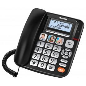 POSTE SENIOR TELEFUNKEN TF 951 COSI FILAIRE NOIR + REPONDEUR