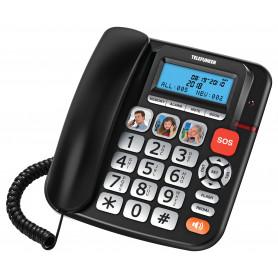 POSTE SENIOR TELEFUNKEN TF 801 COSI FILAIRE NOIR