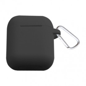 ETUI SOFT TOUCH SILICONE POUR APPLE AIRPODS NOIR