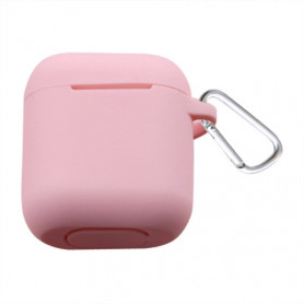 ETUI SOFT TOUCH SILICONE POUR APPLE AIRPODS ROSE - BULK