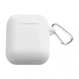 ETUI SOFT TOUCH SILICONE POUR APPLE AIRPODS BLANC - BULK