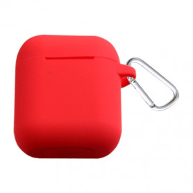 ETUI SOFT TOUCH SILICONE POUR APPLE AIRPODS ROUGE - BULK