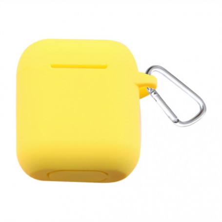 ETUI SOFT TOUCH SILICONE POUR APPLE AIRPODS JAUNE - BULK