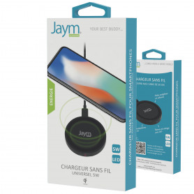 CHARGEUR INTELLIGENT PAD A INDUCTION 5W NOIR - JAYM®