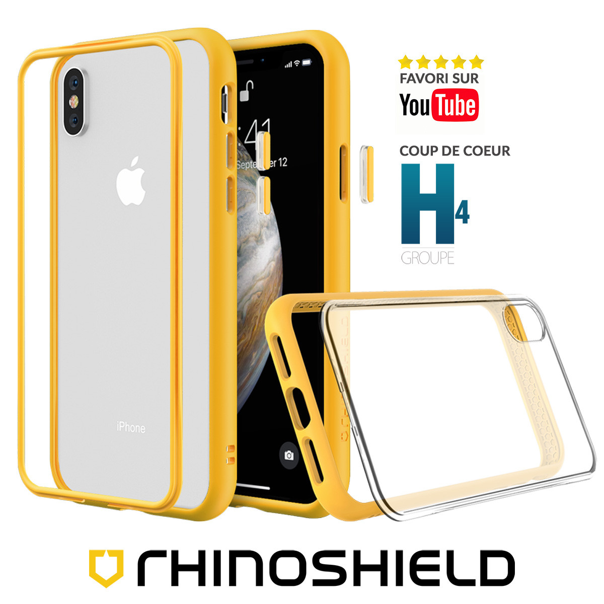 coque iphone xs max jaune apple