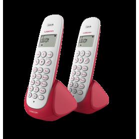 TELEPHONE DECT AURA250 2 POSTES ROUGES - LOGICOM