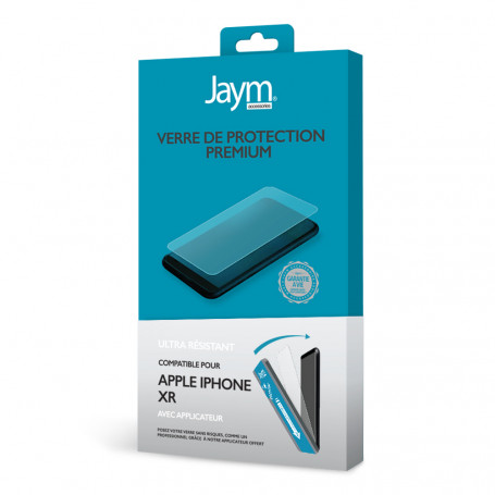VERRE TREMPE PREMIUM 2.5D AVEC APPLICATEUR POUR APPLE IPHONE XR - JAYM®