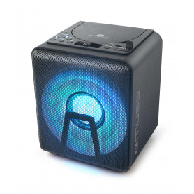 ENCEINTE PORTABLE PARTY BOX CD / MP3 / BLUETOOTH 100W + LUMIERE D'AMBIANCE - MUSE