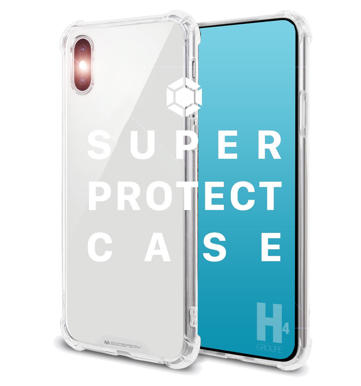 coque iphone xr transparente renforcee