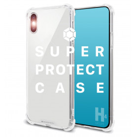 COQUE RENFORCEE TRANSPARENTE BI-MATIERE *SUPER PROTECT* POUR APPLE IPHONE X / XS