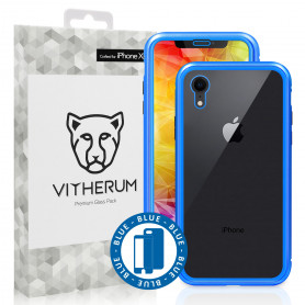 COQUE RENFORCEE MAGNETIQUE BLEUE + VERRE TREMPE 3D FULL GLUE POUR APPLE IPHONE XR - VITHERUM