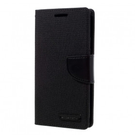 ETUI FOLIO STAND CANVAS DIARY COMPATIBLE SONY XPERIA 10 NOIR