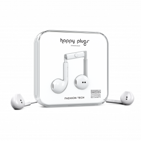 ECOUTEURS FILAIRES EARBUDS PLUS BLANCS - HAPPY PLUGS®