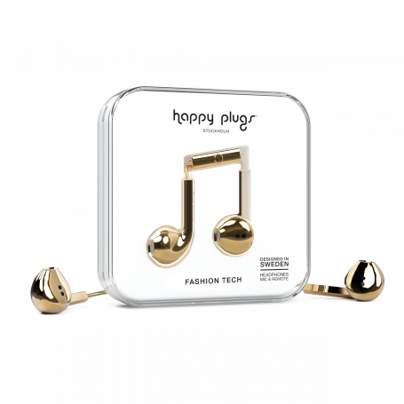 ECOUTEURS FILAIRES EARBUDS PLUS OR - HAPPY PLUGS®