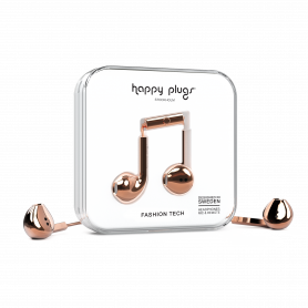ECOUTEURS FILAIRES EARBUDS PLUS ROSE BRILLANT - HAPPY PLUGS®