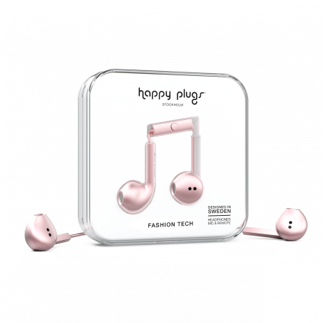 ECOUTEURS FILAIRES EARBUDS PLUS OR ROSE - HAPPY PLUGS®
