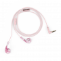 ECOUTEURS FILAIRES EARBUDS PLUS MARBRE ROSE - HAPPY PLUGS®