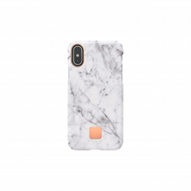 COQUE HAPPY MARBRE BLANC POUR IPHONE X / XS - HAPPY PLUGS®