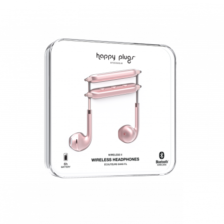 ECOUTEURS SANS FIL WIRELESS II OR ROSE - HAPPY PLUGS®