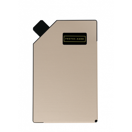 PORTE-CARTE ELECTRONIQUE INTELLIGENT CHAMPAGNE ROSE - PROTECCARD