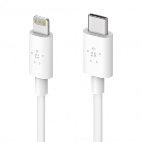 CABLE LIGHTNING POWER DELIVERY TYPE-C VERS LIGHTNING MFI 1.2M BLANC - BELKIN