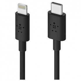 CABLE LIGHTNING POWER DELIVERY TYPE-C VERS LIGHTNING MFI 1.2M NOIR - BELKIN
