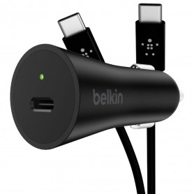 PACK CHARGEUR VOITURE POWER DELIVERY 27W USB-C + CABLE USB-C VERS USB-C QUICK CHARGE NOIRS - BELKIN